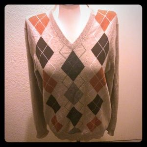 Sweaters - Snuggly Cashmere argyle unisex sweater small